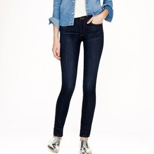 J. Crew Midrise Toothpick Jeans in Carbon 30 TALL
